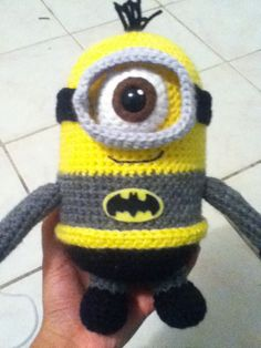 Made this minion for my sister, she found a photo of a batman minion here on pinterest and asked me to try and make her one. Not to toot my own horn, but I think I did pretty well <3
