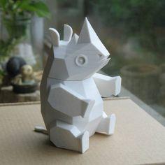 3D Printable Rhino    by Amao Chan