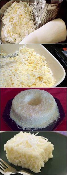 BOLO DE TAPIOCA COM COCO GELADO (NÃO VAI AO FOGO) VEJA AQUI>>>Misture a massa da tapioca em 1 litro de leite morno, o coco o leite condensado Coloque a mistura em uma refratária, deixe endurecer por 20 minutos #receita#bolo#torta#doce#sobremesa#aniversario#pudim#mousse#pave#Cheesecake#chocolate#confeitaria