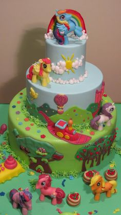 Pin Torta My Little Pony Flickr Photo Sharing Cake On Pinterest...ideas for Sammi's 4th birthday