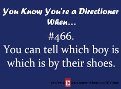 Shoes or clothes or chins or necks or eyes etc... yeah... us directioners are creepy...