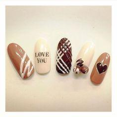 #nail #Valentine #chocolate