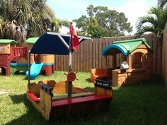 Home daycare outdoor play spaces - Yahoo Image Search Results Outside Playground, Kids Backyard Playground, Preschool Playground, Playground Design, Backyard For Kids, Playground Ideas, Backyard Ideas, Garden Ideas, Kids Outdoor Play Equipment