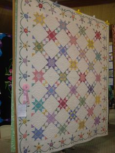 Traditional quilt with appliqué