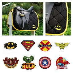 MADE TO ORDER Superhero Saddle Pad - Iron Man, Superman, Batman, Hulk