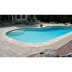 Add this Nantucket Pavers Patio-on-a-Pallet Concrete Gray Variegated Basketweave York-Stone Pavers to your backyard for a natural look. Pool Pavers, Backyard Pool Landscaping, Backyard Pool Designs, Small Backyard Pools, Pool Gazebo, Small Pools, Pool Fence, Outdoor Pool, Outdoor Spaces