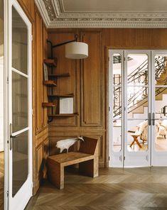 Inside a Superchic Parisian Aerie Designed by Isabelle Stanislas | Architectural Digest Paris Apartment Decor, Paris Apartments, Parisian Apartment, Apartment Interior, Apartment Design, French Interior, Bar Interior, Interior Design, Foyer Decorating
