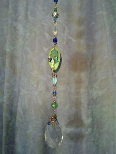 Blue Green Spring Sun Catcher by CherylwoodForest on Etsy
