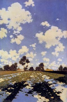 "Maxfield Parrish, ""Water on a Field"""