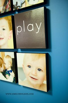 Love this idea for photos on the wall!
