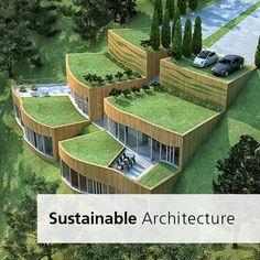 Architecture Durable, Bamboo Architecture, Landscape Architecture Design, Sustainable Architecture, Sustainable Design, Amazing Architecture, House Architecture, Sustainable Houses, Landscape Designs
