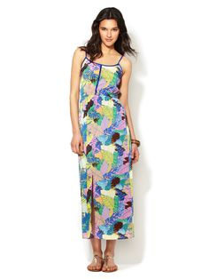 Piped Printed Maxi Dress by Best Society at Gilt
