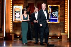 "Sally Field and Matthew Broderick present Tracy Letts with the Tony Award for Best Performance by an Actor in a Leading Role in a Play for 'Who's Afraid of Virginia Woolf?"" at The 67th Annual Tony Awards"