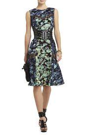 BCBG - Jolie Printed Lace Inset Dress