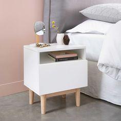 Diy Table De Chevet Vintage 68 Ideas For 2019 White Bedroom Furniture, Table Furniture, Furniture Design, Bedroom Decor, Furniture Dolly, Furniture Stores, Furniture Ideas, Bedroom Table, Gold Bedroom