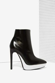 Jeffrey Campbell Divert Leather Bootie - Jeffrey Campbell