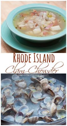You've heard of New England and Manhattan, but have you ever tried this lesser known Rhode Island Clam Chowder??  It's a lighter, brighter version of the classics!