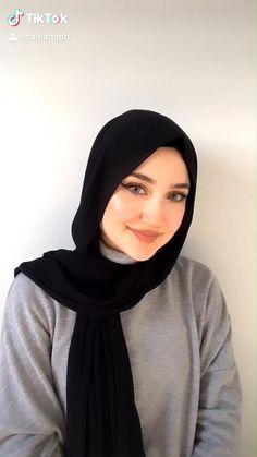 Modern Hijab Fashion, Street Hijab Fashion, Hijab Fashion Inspiration, Muslim Fashion, Modesty Fashion, Simple Hijab Tutorial, Hijab Style Tutorial, Turkish Hijab Tutorial, Square Hijab Tutorial