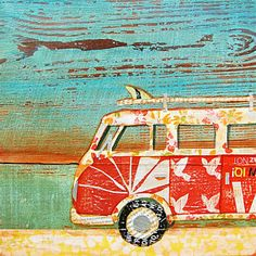 Collage Mixed Media - Santa Cruise by Danny Phillips