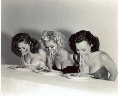 Pin-up spaghetti eating contest - Imgur