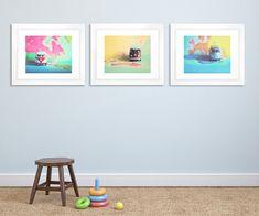 Nursery Wall Art  VW Bus Collection  Fine Art by annadykema, $72.00