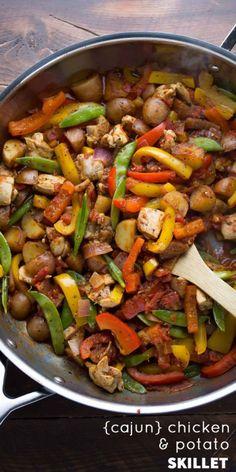 One Pan Cajun Chicken & PotatoesReally nice recipes. Every  Mein Blog: Alles rund um die Themen Genuss & Geschmack  Kochen Backen Braten Vorspeisen Hauptgerichte und Desserts
