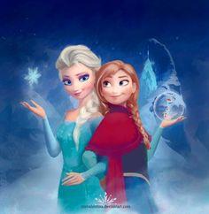 Frozen Fan Art: Elsa and Anna