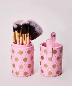 5ea68d444c539 Dot Collection 11 Piece Brush Set - Pink