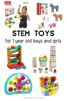 Prime 10 STEM toys for 1 yr previous toddlers - age applicable toys for toddlers 12 - 24 months to introduce science, know-how, engeneering and math into their every day routine by means of play - Best Kids' TOYS Toddler Shows, Toddler Age, Toddler Preschool, Science Activities For Kids, Infant Activities, Steam Activities, Toys For 1 Year Old, Coding For Kids, Best Kids Toys