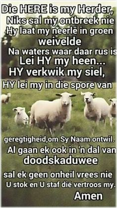 Teks - Ps 23 Bid die Bybel #Afrikaans #Scripture #iBelieve (FB) Scripture Verses, Bible Quotes, Afrikaanse Quotes, Goeie More, Psalm 23, Morning Greeting, Inspirational Thoughts, Faith In God, Word Of God