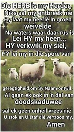 Teks - Ps 23 Bid die Bybel #Afrikaans #Scripture #iBelieve (FB)