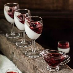 Panna Cotta with Roasted Strawberries- a quick and easy dessert that is light and great in taste.