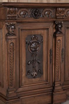 Antique Italian Renaissance Walnut Buffet | From a unique collection of antique and modern buffets at http://www.1stdibs.com/furniture/storage-case-pieces/buffets/