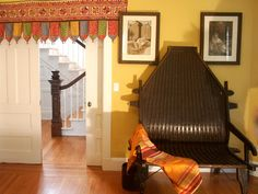 The colors, culture and furniture of India were brought into this traditional space to cr