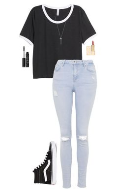 """""""..//.....///......./."""" by anna-mae-equils on Polyvore featuring H&M, Topshop, NARS Cosmetics, Tory Burch, Karen Kane and Vans"""