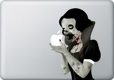 zombie snow white macbook sticker