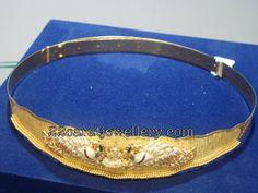 Jewellery Designs: Vaddanam with Diamond Peacocks