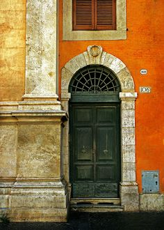 striking use of color and texture, with the oranges, golds and deep green, brick, stone and wood. wow!