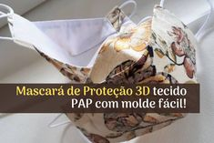 Mascará de Proteção 3d tecido com molde fácil! Face Masks For Kids, Easy Face Masks, Diy Face Mask, Easy Sewing Projects, Sewing Projects For Beginners, Bottle Top Crafts, Traditional African Clothing, Face Shape Hairstyles, Crochet Faces