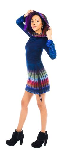 Small Tie Dye Sleeved Huntress Cinch Dress