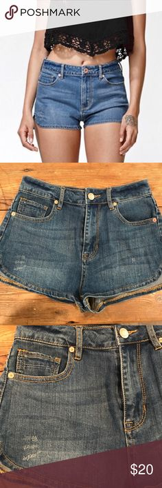 NWOT Kendall And Kylie denim shorts New without tags Kendall and Kylie Urban Outfitters high rise shorts. Junior size 5 Urban Outfitters Shorts Jean Shorts