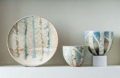 Maggie Zerafa, Isle of Skye, Larchwood Plate & Vases www.maggiezerafa.com