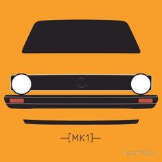 Volkswagen Golf Mk1 Poster