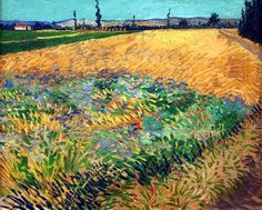 Vincent Van Gogh - Wheat field with the Alpilles Foothills in the background -1888