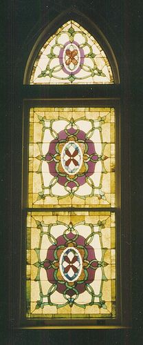 Stained glass in the sanctuary of First Presybterian Church, Sweetwater, TN