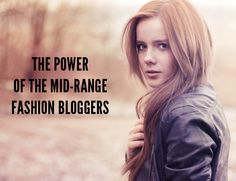 Who is a reader's (and advertisers) key influence? The mid range blogger