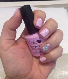 Spring Nails CND Shellac- Cake Pop color