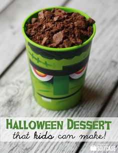 Here's an easy Halloween dessert that your kids will love making and eating!