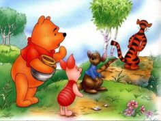 Winnie, Piglet, Roo, and Tigger too.