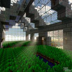 Random Render #56 Morning in the greenhouse Minecraft Greenhouse, Minecraft Farm House, Minecraft Brick, Minecraft Light, Minecraft Castle, Cute Minecraft Houses, Minecraft Furniture, Minecraft Projects, Minecraft Ideas